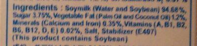 Lactasoy Soymilk - Ingrediënten - en