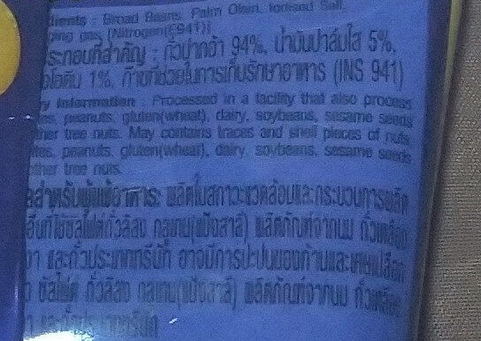 Salt Broad Beans - Ingrediënten - en