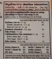 เนยถั่วลิสง ชนิดหยาบ - Valori nutrizionali - th