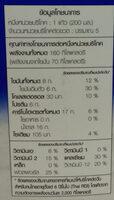 นมสด - Voedingswaarden - th
