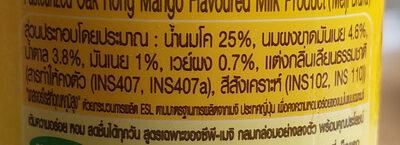 นม กลิ่นมะม่วงอกร่อง - Ingrediënten - th