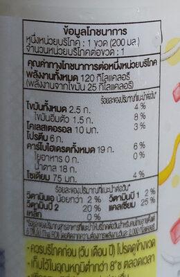 นมรสขนมรวมมิตร - Voedingswaarden - th