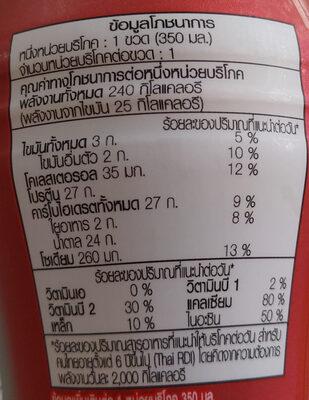 เมจิไฮโปรตีน - Voedingswaarden - th