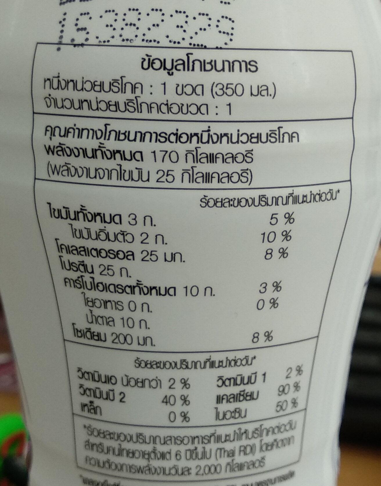 เมจิไฮโปรตีน สูตรไม่เติมน้ำตาล - Voedingswaarden - th