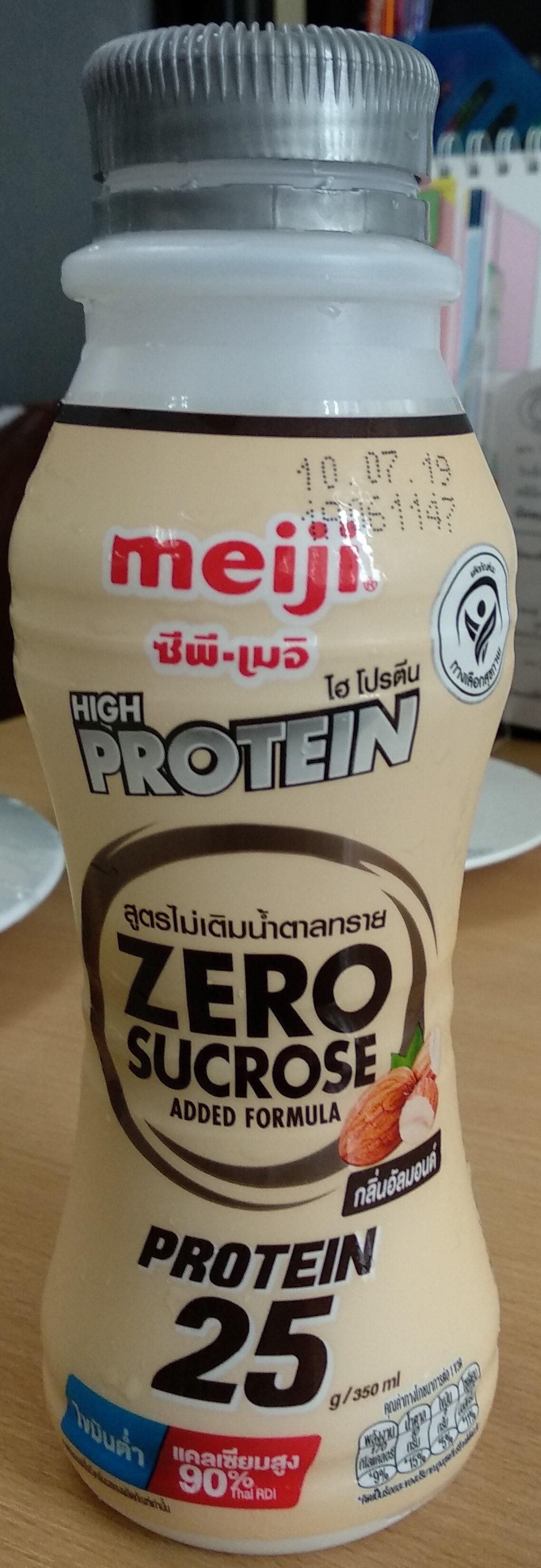 เมจิไฮโปรตีน สูตรไม่เติมน้ำตาลกลิ่นอัลมอนด์ - Produit - th