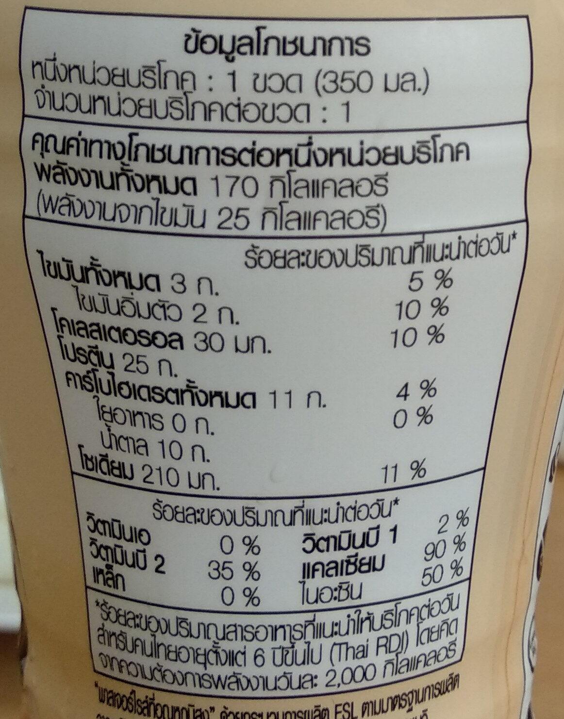 เมจิไฮโปรตีน สูตรไม่เติมน้ำตาลกลิ่นอัลมอนด์ - Informations nutritionnelles - th