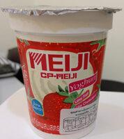 โยเกิร์ตผสมสตอเบอรี่ไขมันต่ำ ตราเมจิ - Product