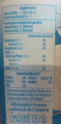 โยเกิร์ตรสธรรมชาติ - Informations nutritionnelles