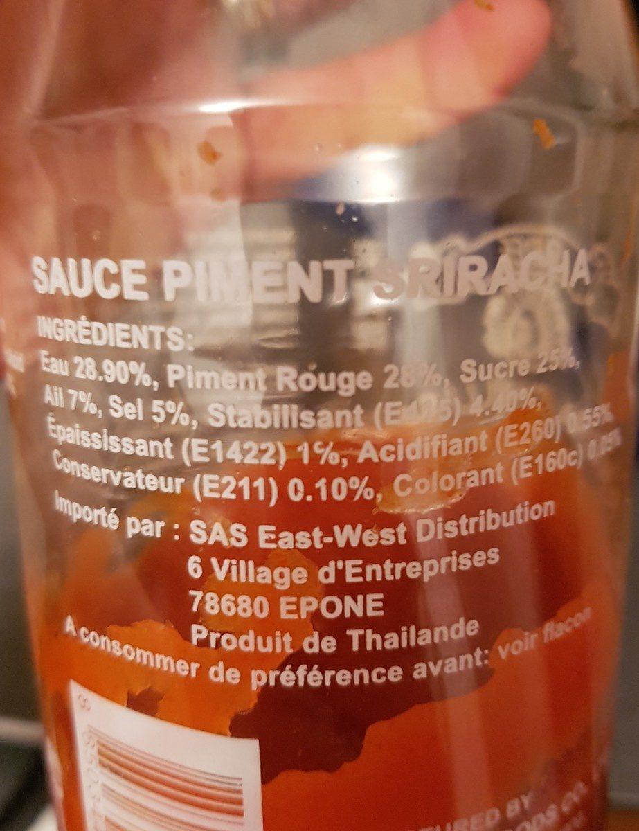 Chili sauce - Ingrediënten