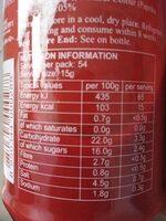 Sriracha Chili Sauce - Informació nutricional - es