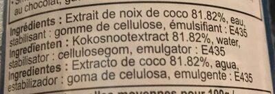 Lait de coco - Ingrédients