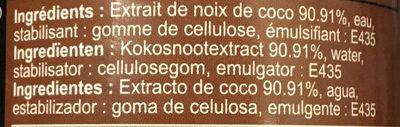 Suree Crème De Noix De Coco 400 mL - Ingrediënten - fr