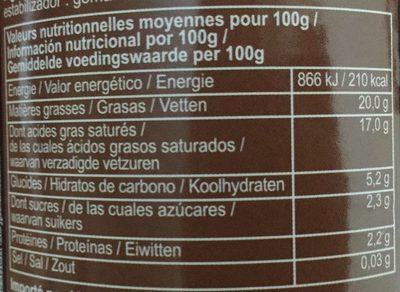 Suree Crème De Noix De Coco 400 mL - Voedingswaarden