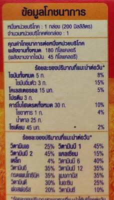 โอวัลติน - Nutrition facts