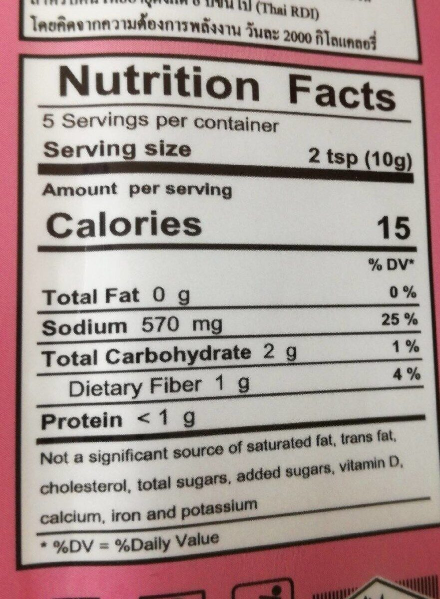 Mae ploy, masman curry paste - Nutrition facts - en