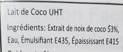 coconut milk - Ingredienti - fr