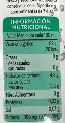 Agua de coco - Voedigswaarden