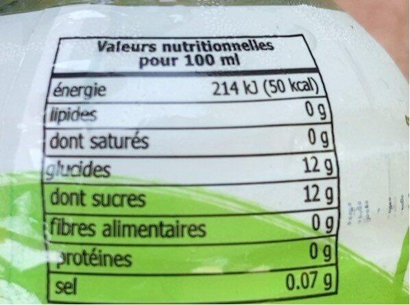 Mogu Mogu, Melon et nata coco - Nutrition facts - en