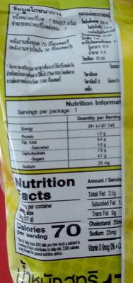 ยูโรเค้กครีมกล้วยหอม - Informations nutritionnelles
