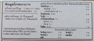 ยูโร่เค้ก คาปูชิโน - Informations nutritionnelles - th