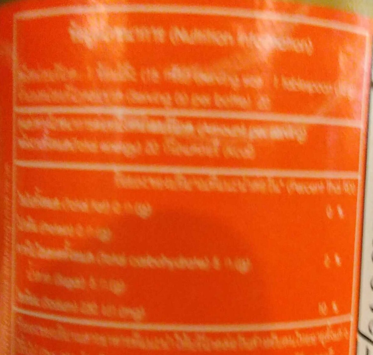 chilly sauce Rosa - Valori nutrizionali - en