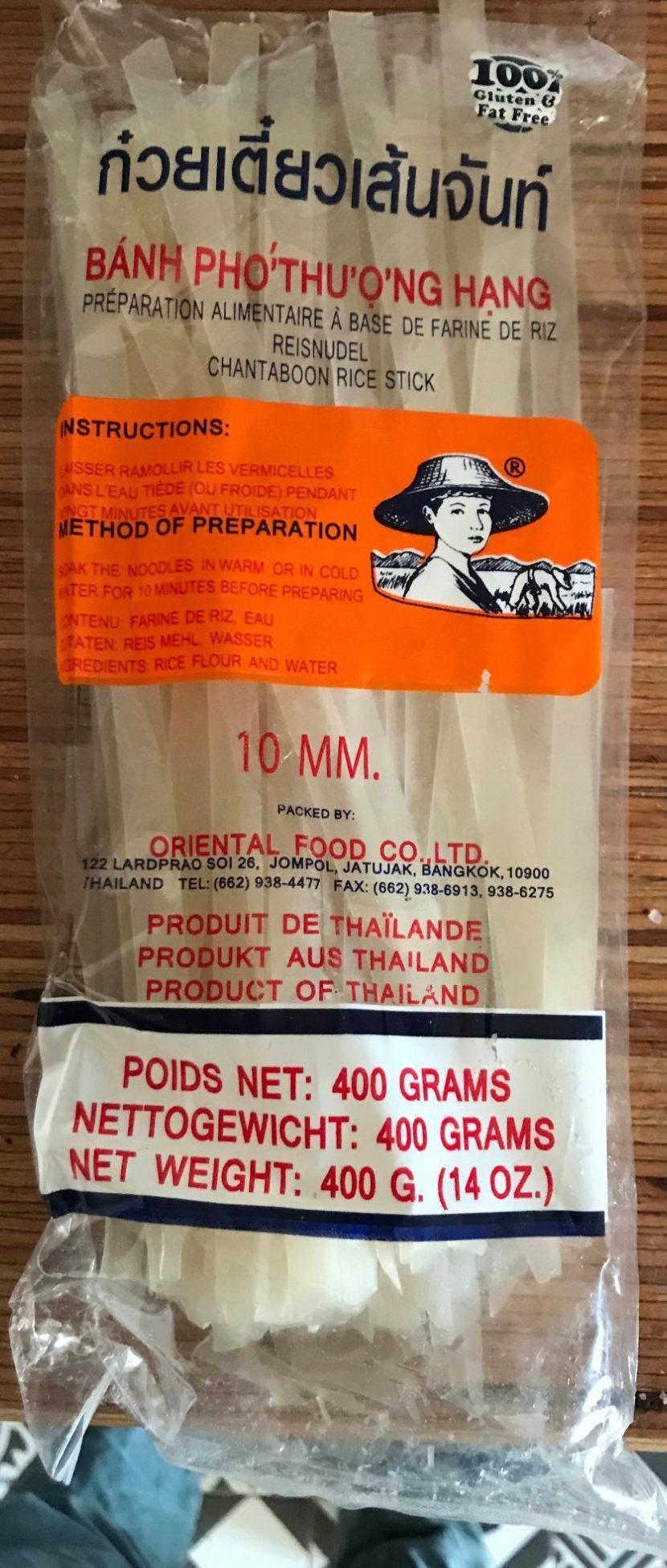 BANH PHO THUONG HANG rice noodles - Oriental Food Co  Ltd - 400g