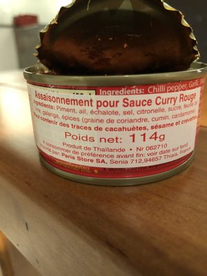 Maesri Red Curry Paste - Ingredients - en
