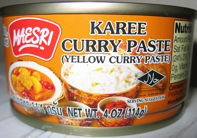 Maesri, yellow curry paste - Product - en