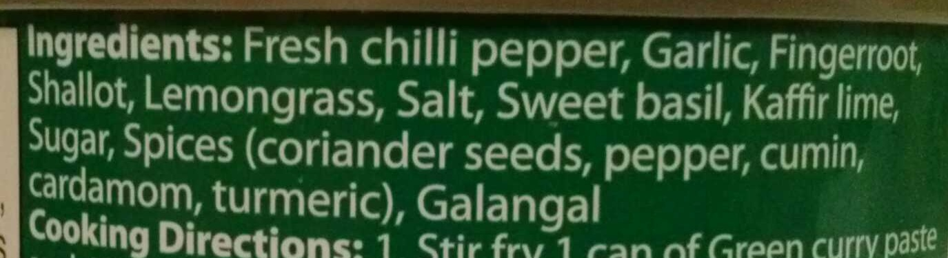 Maesri, green curry paste - Ingredients - en