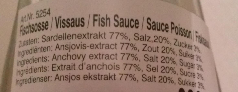 Sauce poisson (NUOC MAN) - Ingrediënten