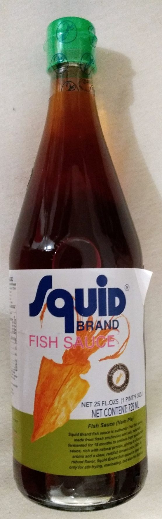 Squid brand fish sauce 725ml for Fish sauce brands