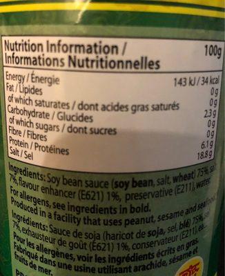 Seasoning sauce - Voedingswaarden - fr