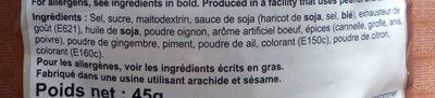 Preparation Pour Soupe Pho Boeuf - Ingrediënten