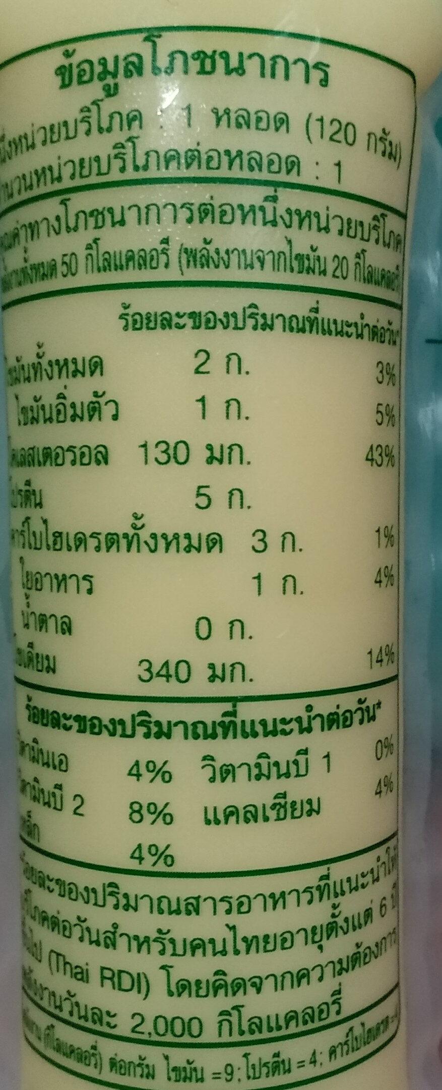 เต้าหู้ไข่ไก่ - Informations nutritionnelles - th