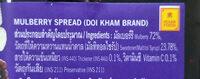 มัลเบอร์รีทาขนมปัง mulberry spread - Ingredients - th