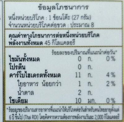 มัลเบอร์รีทาขนมปัง mulberry spread - Nutrition facts - th