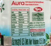 Aura 100% natural - Informations nutritionnelles - th
