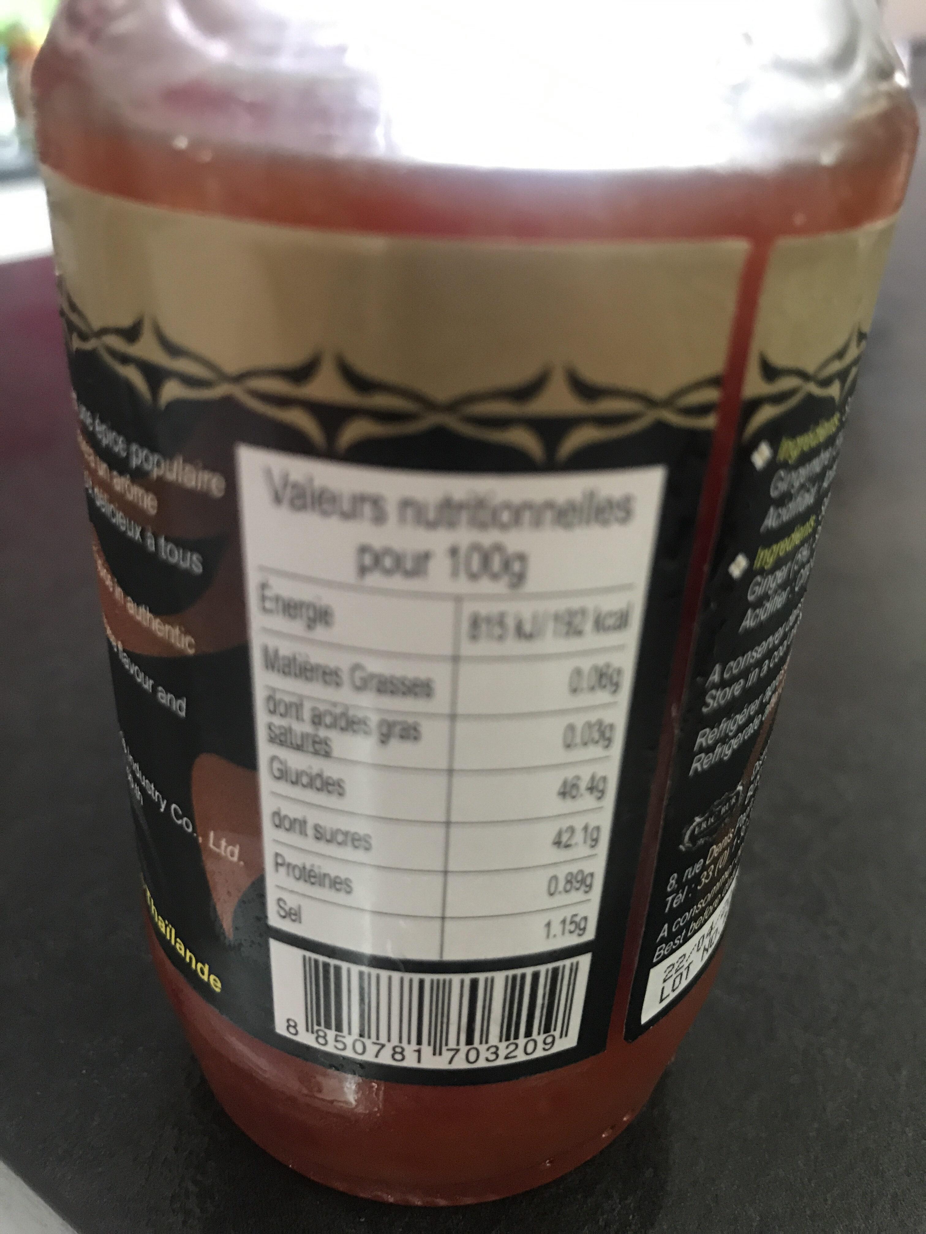 Aji/jengibre - Informations nutritionnelles - fr