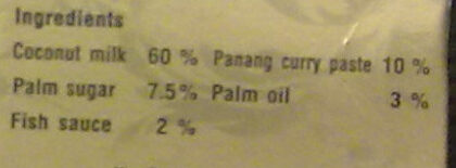 Panang curry soup - Ingredients - fr