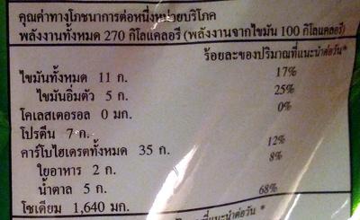 Instant Noodles Tom Yum Pork Flavour - Nutrition facts - en