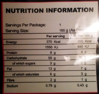 Mi Goreng Plat de Nouilles instantanées - 80 g - Mama - Nutrition facts