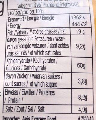 Mama Soupe Porc - Nutrition facts - fr
