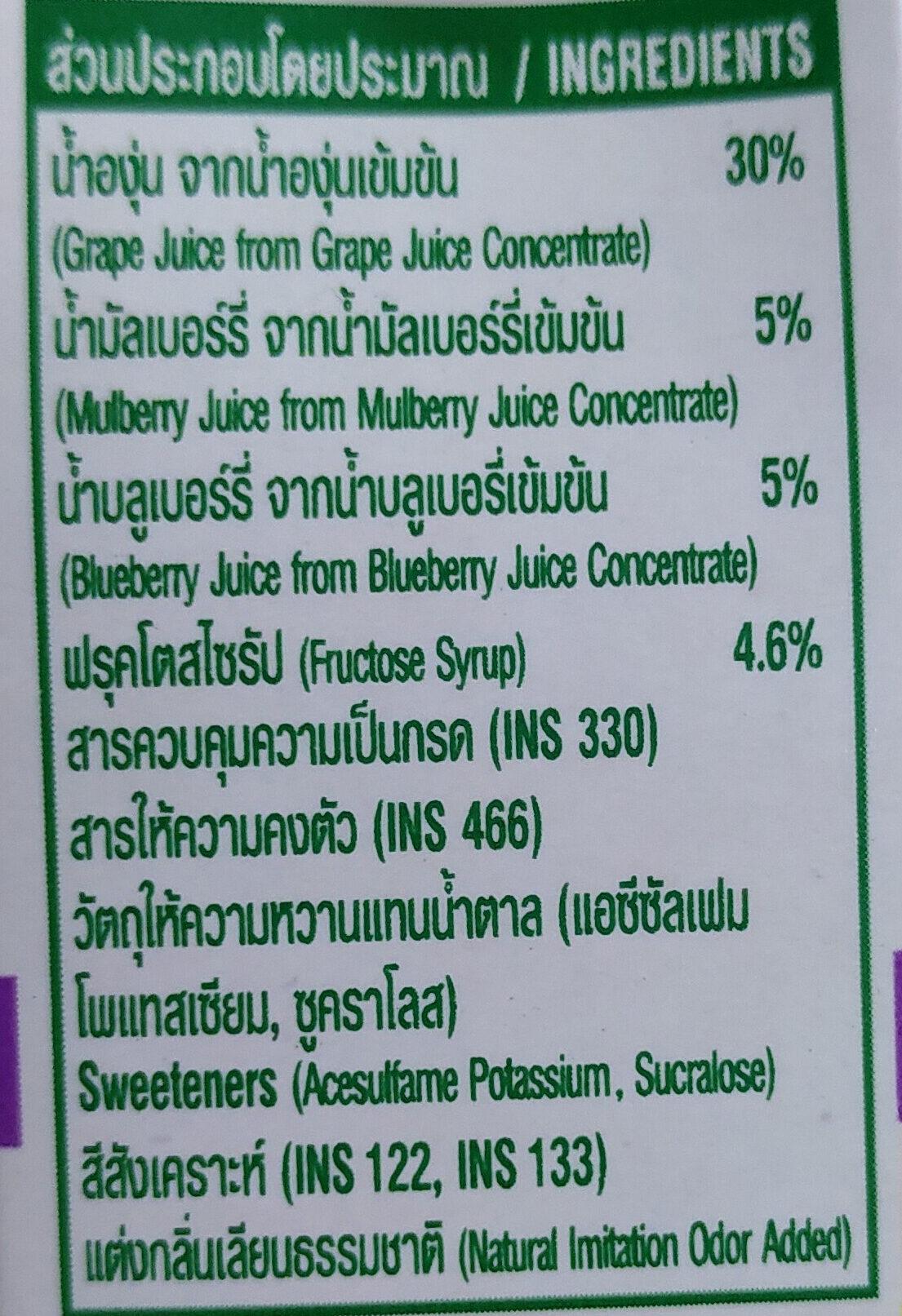 น้ำเบอรรี่มิกซ์ - Ingredients