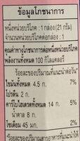 ป๊อกกี้ กลิ่นสตรอเบอรี่ กล่องเล็ก - Informations nutritionnelles - th