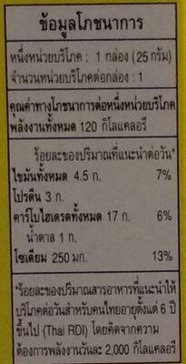 เพรทซ์ รสลาบ - Nutrition facts