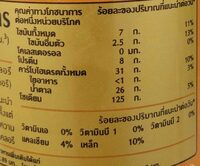 Vitamilk Thai tea - Informations nutritionnelles - en