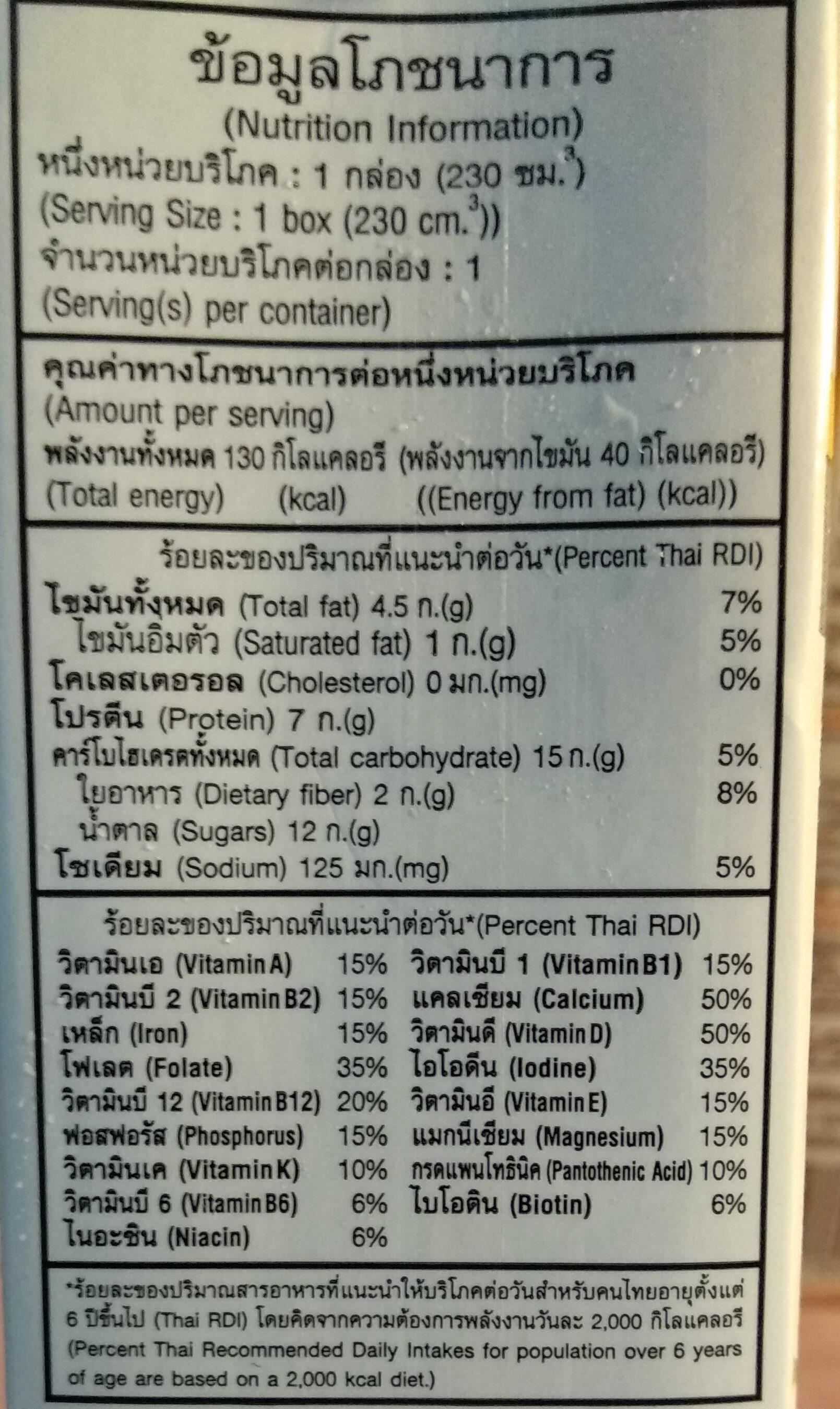 วีซอยรสงาขาวและงาดำ - Valori nutrizionali - th