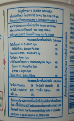 โยลิดา - Nutrition facts