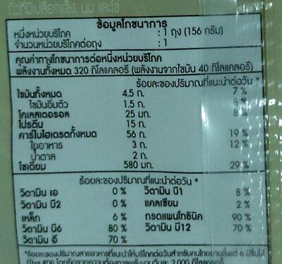 เบอร์เกอร์ ข้าวกล้องไก่แซ่บ - Informations nutritionnelles - th