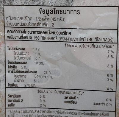 มินิบันไส้หมูหยอง - Voedingswaarden - th